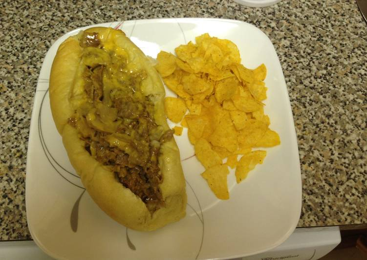 Recipe of Speedy Easy Peasie Super Cheesy Cheesesteak W/Mushrooms