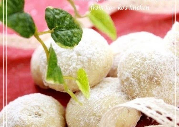 Crunchy Snowball Cookies