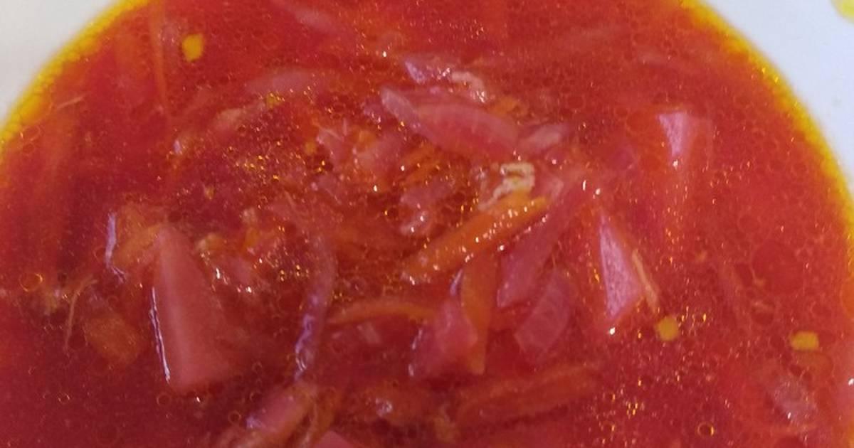 Борщ без капусты рецепт с фото пошагово