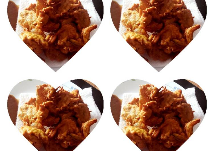 Panfried onion fritters