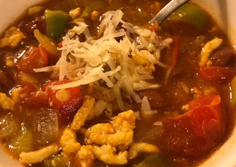 Garden Vegetable Turkey Chili