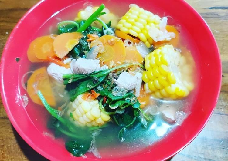 Sup bayam bumbu bali