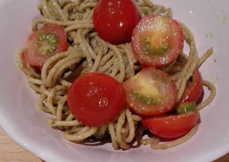 Recipe of Speedy easy whole grain pasta pesto