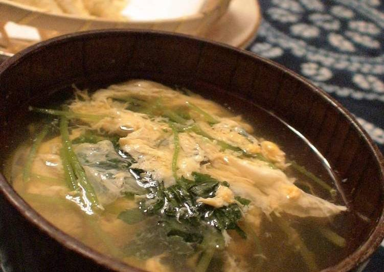 Do Not Waste Time! 10 Facts Until You Reach Your Easy Egg Drop Soup with Mitsuba