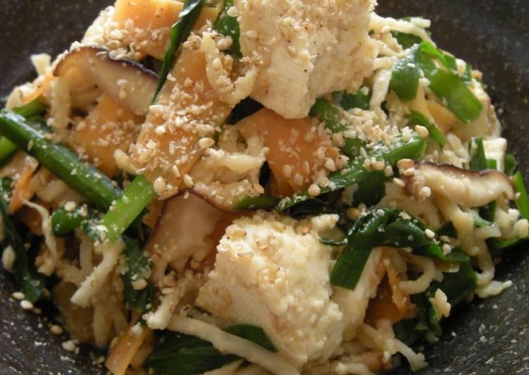 Healthy Chanpuru Style Tofu Stir-Fry - Miso Is The Key