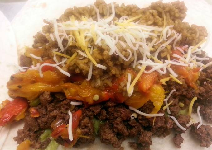 Twisted Beef Burritos