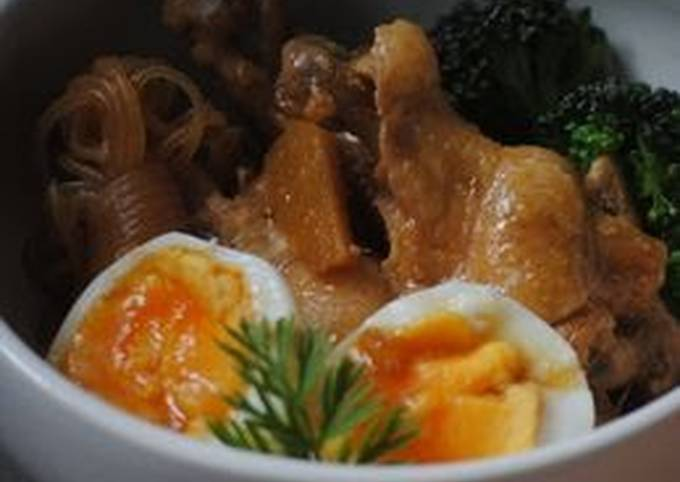 Chicken Wing and Konnyaku Stewed in Vinegar