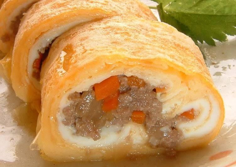 Recipe of Super Quick Homemade Chicken-Egg Tamagoyaki