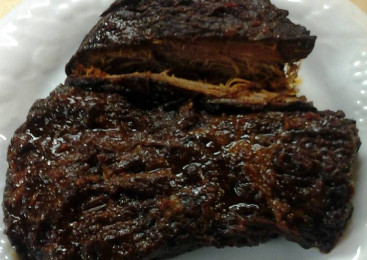 How to Prepare Ultimate Sam's Crockpot Beef Brisket with Homemade Bbq Sauce