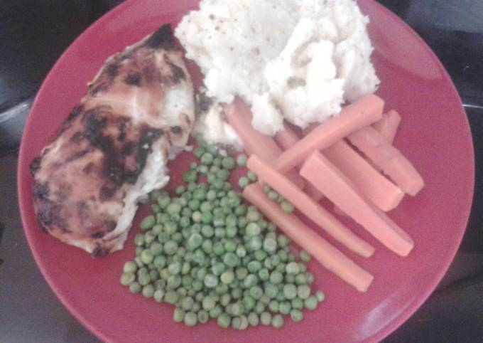 Chicken Breast stuffed with Soft Cheese and Garlic