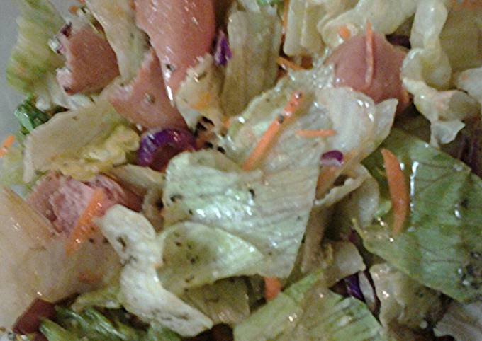 Hotdogs and salad
