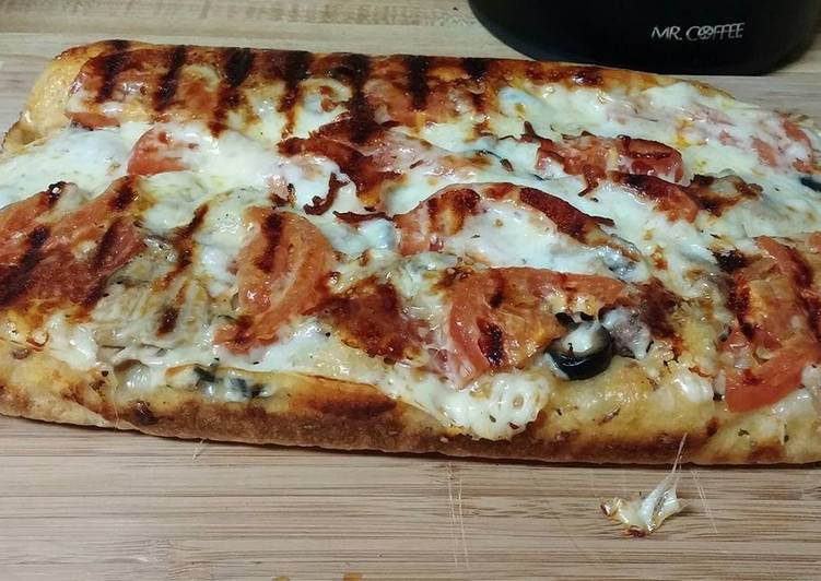 George Foreman Evolve Grill Pizza Recipe By Sheila Calnan Cookpad