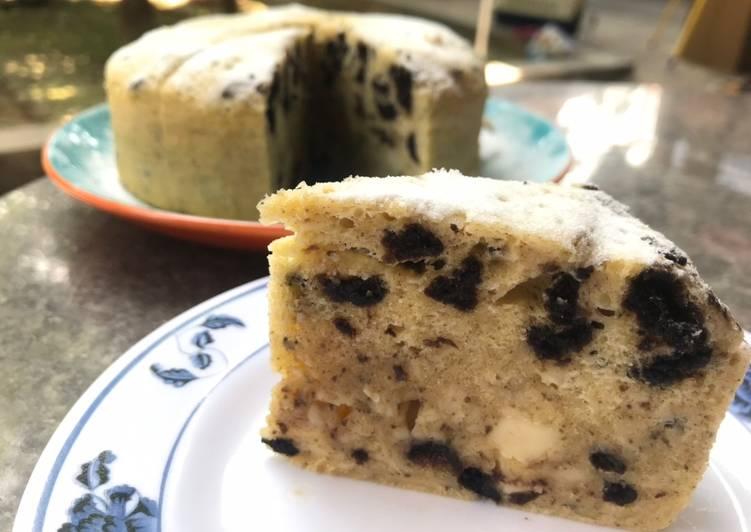 Oreo cheese steam cake