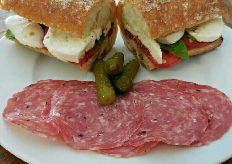 Zippy Dijon Caprese Sandwich by the ClannMaster