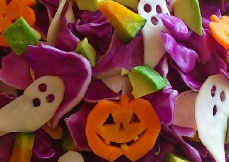 Easiest Way to Prepare Tasty Purple Cabbage Salad for Halloween