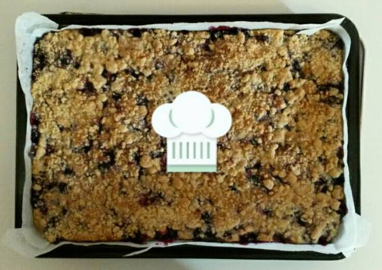 Blueberry-Lemon Crumb Bars♡