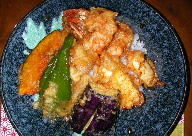 Recipe of Quick Tendon (Tempura Rice Bowl)