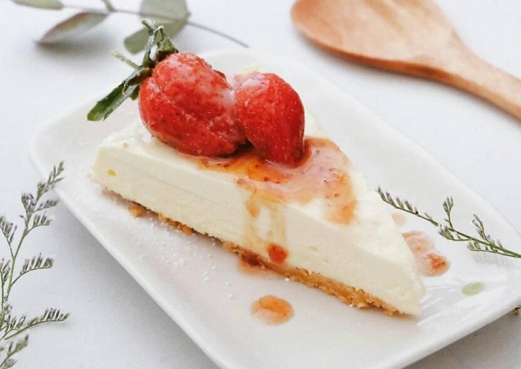 Strawberry Cheesecake (No Oven)