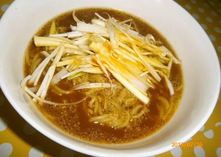 Recipe of Super Quick Homemade Spicy Tonkotsu (Pork Base) Ramen with Leeks