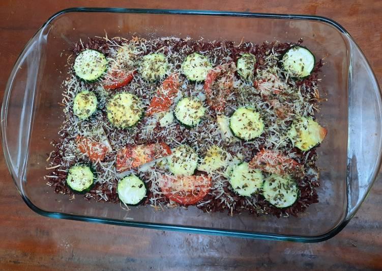 Nasi Panggang Zucchini Tomat