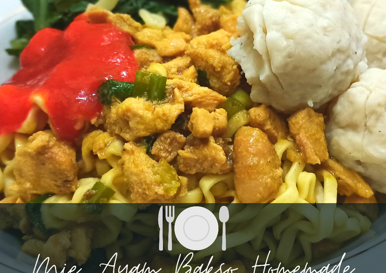 Cara Gampang Membuat Mie Ayam Bakso Homemade (Recook: Resep by @Suci Normaliani) yang Bikin Ngiler