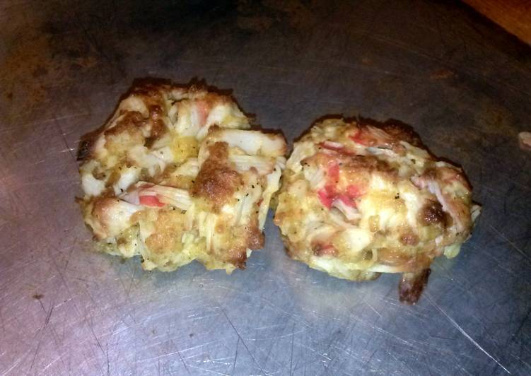 Homemade crab cakes