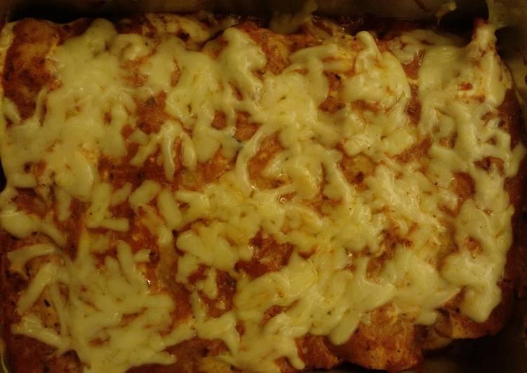 Easy and cheesy enchiladas