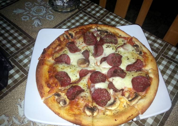 home made pizza from scratch