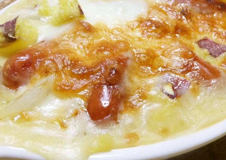Recipe of Top-Rated Sweet Potato & Wiener Gratin