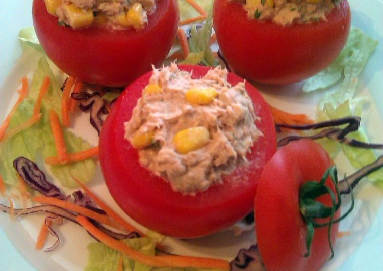 Vickys Tuna-Stuffed Picnic Tomatoes, GF DF EF SF NF