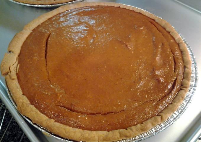 Low fat pumpkin pie