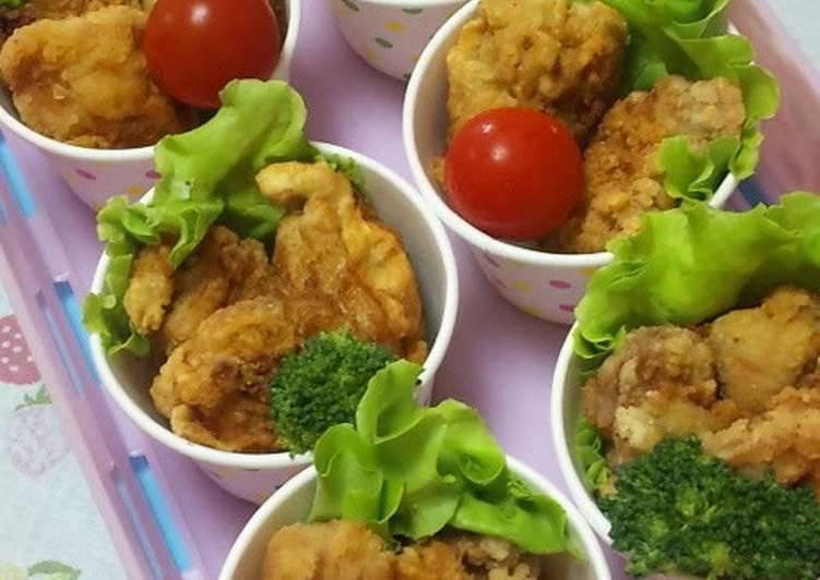 Karaage (Japanese Fried Chicken) in Cups