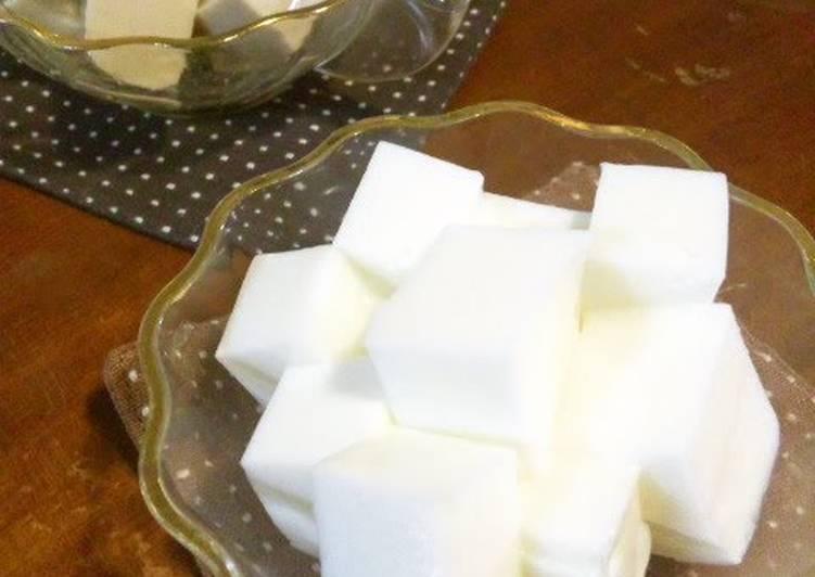 Our Family's Milk Kanten Jello with Condensed Milk