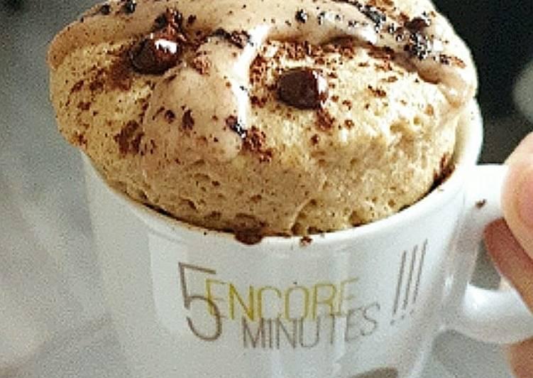 Mug cake noisette pépites chocolat