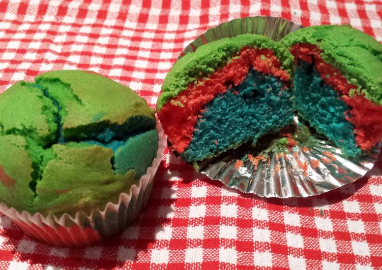 Easiest Way to Make Super Quick Homemade Rainbow butter cupcakes