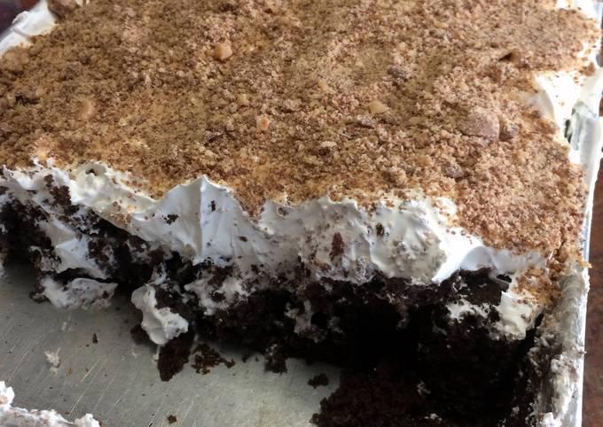 Recipe of Super Quick Homemade Chocolate Fudge Heath Bar Cake