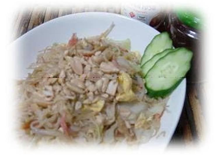 Recipe: Delicious Thai Style Rice Vermicelli ★ Pad-Thai-Style Sōmen Chanpuru