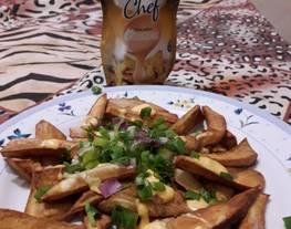 Batatas fritas con la nueva salsa Finlandia chef ??