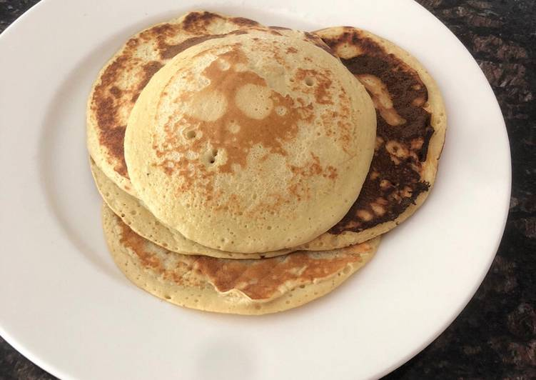 Simple Way to Prepare Favorite 4 ingredient banana pancakes
