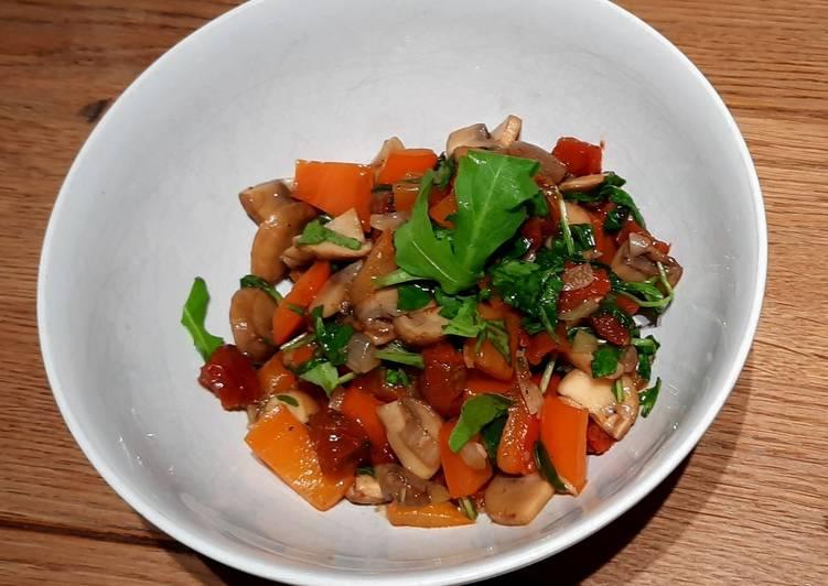 Lauwarmer Champignonssalat