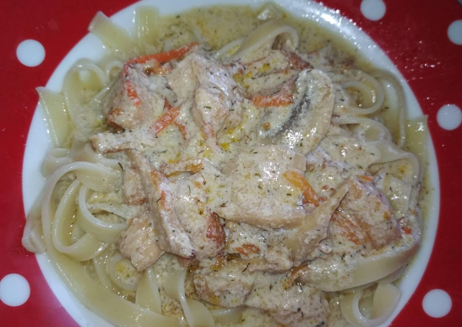Грибы в сливочном соусе рецепт с фото