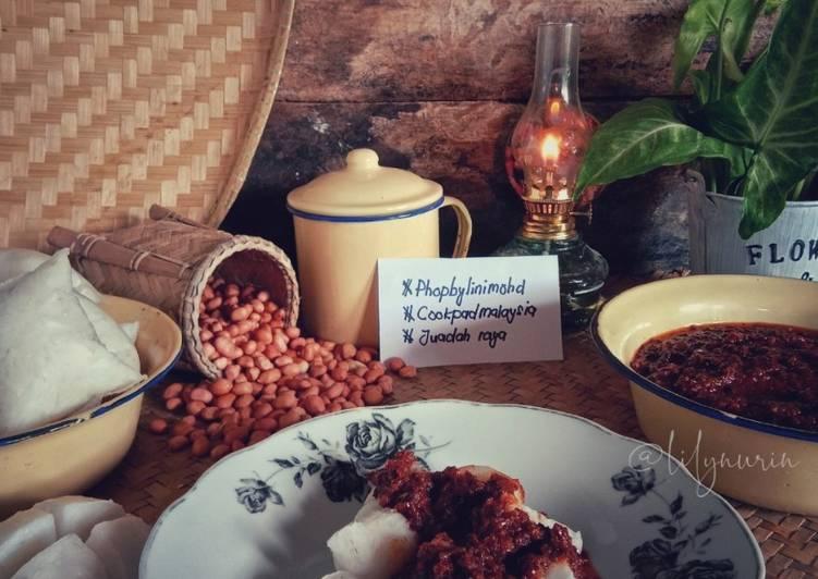 Nasi impit kuah kacang #phopbylinimohd