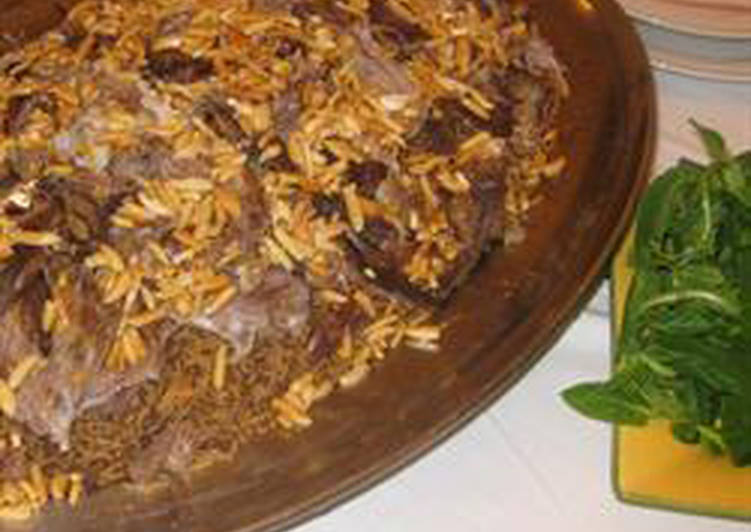 Lamb with rice and nuts - ouzet ghanam