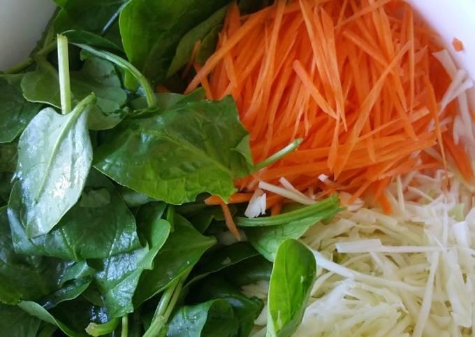 Salades 3 Légumes au beurre cacahuètes