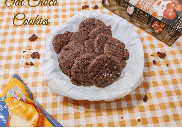 Oat Choco Cookies - Pakai teflon, Tanpa oven
