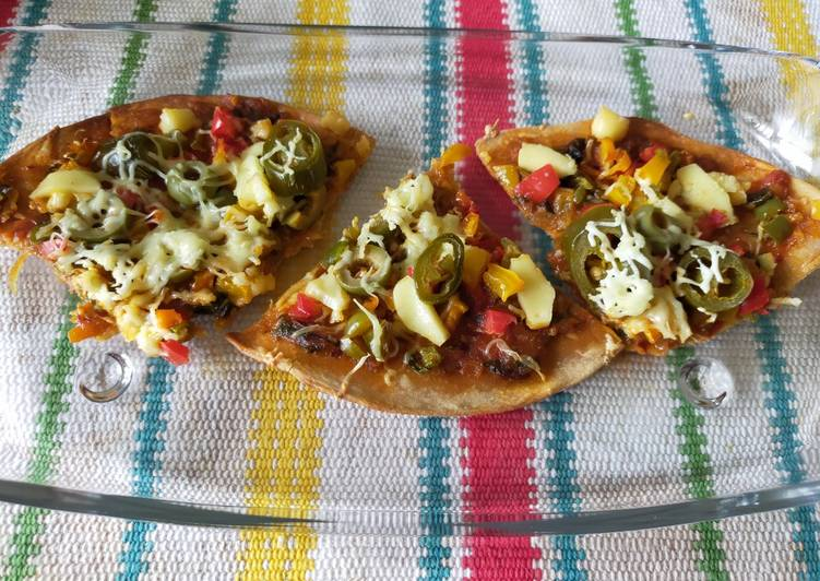 Recipe of Quick Thin Crust Whole Wheat Pizza