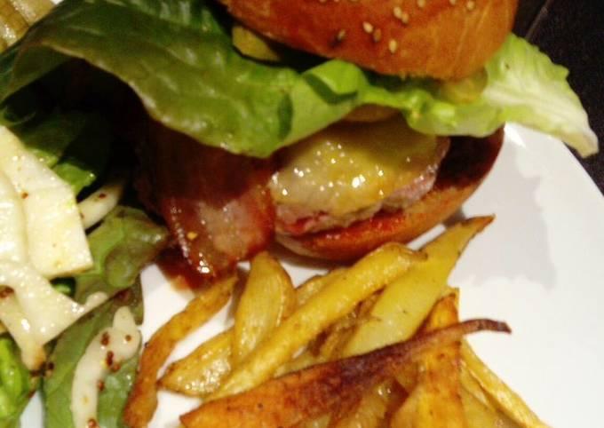 Burger maison&frites de panais