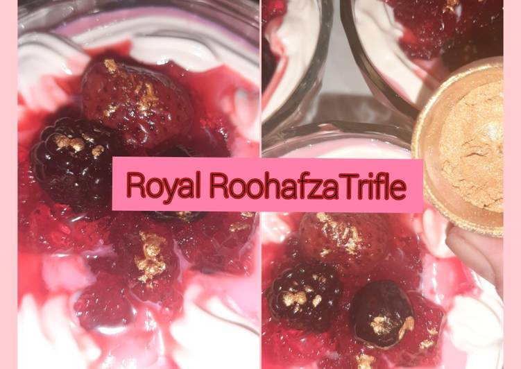 Royal Roohafza Trifle😊