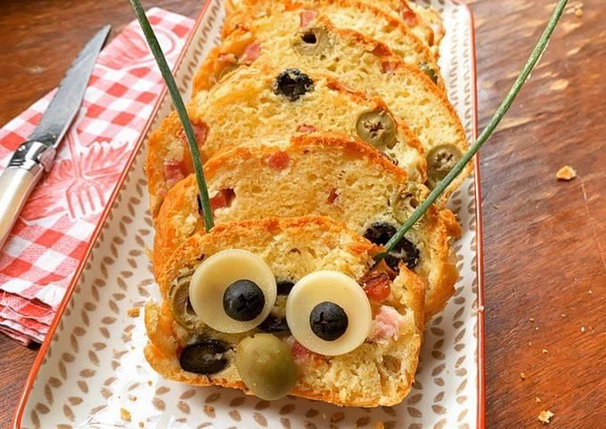 ☆Cake Chenille aux 2 Olives et Lardons☆