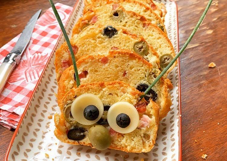 Recette Des ☆Cake Chenille aux 2 Olives et Lardons☆